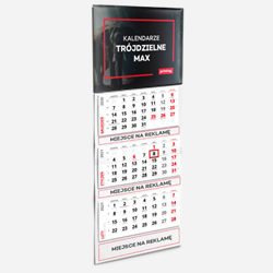 Dreiteilige Kalender MAX