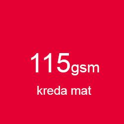 Katalog klejony A5 pionowo kreda mat 115gsm