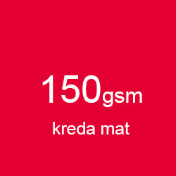 Katalog klejony A5 poziomo kreda mat 150gsm