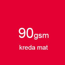 Katalog klejony A5 poziomo kreda mat 90gsm