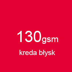 Katalog klejony A4 poziomo kreda błysk 130gsm