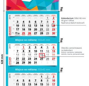 Kalendarze trójdzielne MAX