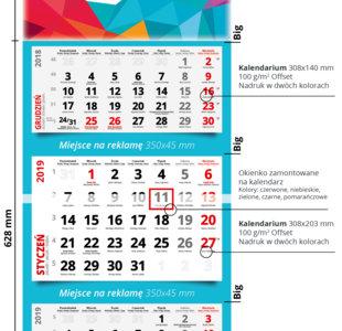 Kalendarze trójdzielne MAX premium